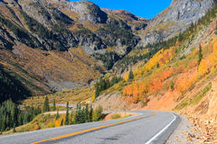 Southwest Colorado Highway in Fall Stock Photography