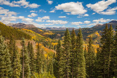 Southwest Colorado Mountain Fall Landscape Stock Photography