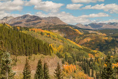 Southwest Colorado Mountains in Autumn Stock Photography