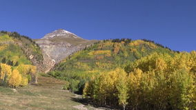 Southwest Colorado Rockies  in Fall. A colorful scenic landscape of a colorado rocky mountains in fall stock footage