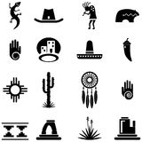 Southwest Desert Icon Illustrations Stock Images