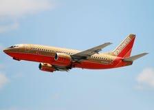 southwest för flygbolagstrålpassagerare Arkivbilder