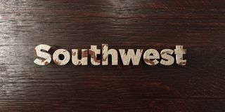 Southwest - grungy wooden headline on Maple  - 3D rendered royalty free stock image Royalty Free Stock Images