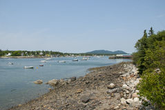 Southwest Harbor, Maine. Southwest harbor on Mount Desert Island on the coast of Maine stock photo