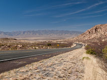 Long road Southwest landscape Royalty Free Stock Image