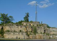 Southwest Missouri scenery with tower Royalty Free Stock Photography