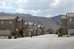 Southwest neighborhood. Neighborhood view in Southwest USA Stock Image