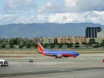 Southwest Plane Sits On LAX Royalty Free Stock Photo