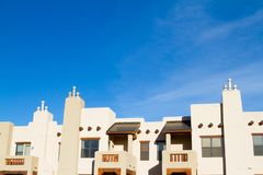 Southwest residential apartment condominium building. With blue sky royalty free stock images