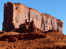 Southwest Rock. Red rock geological formation in Monument Valley, Arizona royalty free stock photography