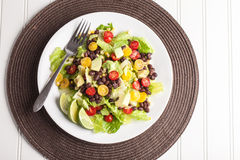 Southwest Salad on brown place mat Stock Photography