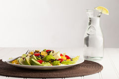 Southwest Salad with side of water Stock Photos