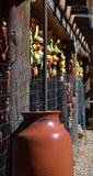 SOUTHWEST SANTA FE CERAMIC CLAY POTTERY Stock Photo