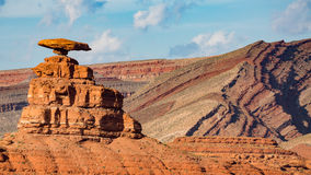 Southwest states travel, USA. Mexican Hat, Utah in USA Royalty Free Stock Images