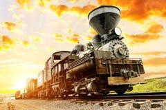 Southwest train spirit. Beautiful ils train in the sunset of southwest USA stock images