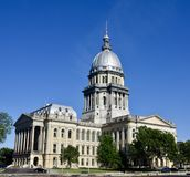 Southwest View of Illinois Capitol Royalty Free Stock Images