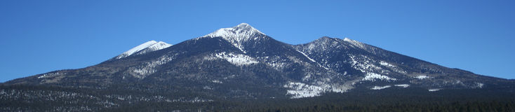 A Southwest View of the San Francisco Peaks Stock Photography