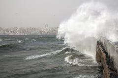 Southwest wind storm ,Istanbul,Turkey. Southwest wind storm in the Bosphorus ,Istanbul,Turkey royalty free stock image