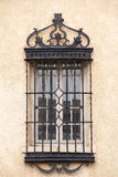 Southwest Window. The iron bars on a window in Santa Fe, New Mexico Royalty Free Stock Photo
