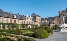 Southwest wing and entrance gate of Kasteel van Gaasbeek, Belgium.