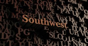 Southwest - Wooden 3D rendered letters/message Stock Photo