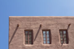 Southwestern Adobe Architecture. Southwest architecture from New Mexico. Adobe-style building Stock Image