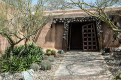 Southwestern Adobe Architecture. Whimsical entry to a southwestern adobe building Stock Images