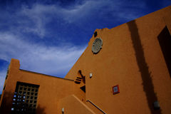 Southwestern architecture. Spanish adobe style building with blue desert sky, Rancho Mirage, California stock images
