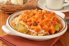 Southwestern chicken casserole Royalty Free Stock Photos