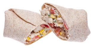 Southwestern Chicken Salad Wrap Stock Image