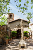 Southwestern church. Elegant design incorporating nature and religious symbols in the American Southwest Stock Image