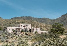 Southwestern design residence. Southwestern residential architecture in the Arizona desert royalty free stock image