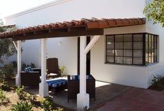 Southwestern home patio and entrance. Arizona outdoor home patio and front entranced lantern Royalty Free Stock Images