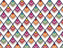Southwestern Pattern. On a white background Stock Illustration