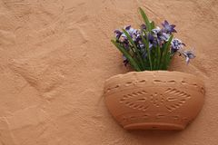 Southwestern Pottery and Floral Design Royalty Free Stock Image