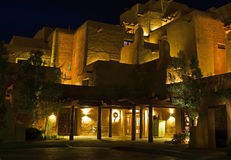 Southwestern resort at night Stock Photos