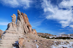 Southwestern Sky and Rock Formations Royalty Free Stock Images