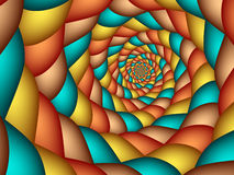 Southwestern Spiral. Fractal spiral with southwestern colors Royalty Free Stock Photo