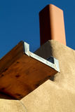 Southwestern style Canale (Gutter) Drainage. Canale, the Spanish word for canal, or in this case - roof gutter, on a Southwestern US flat roofed stucco or adobe royalty free stock photography