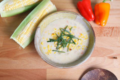 Southwestern style corn chowder Stock Photos