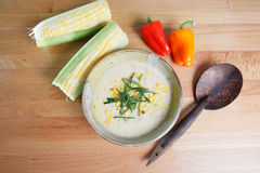 Southwestern style corn chowder Stock Photo