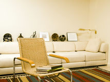 Southwestern style living room modern condo Stock Image