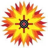 Southwestern Sun Design Stock Image