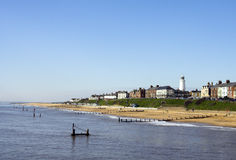 southwold пляжа стоковое изображение