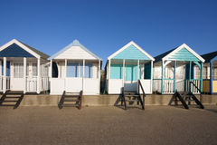 Southwold beach huts Stock Photos