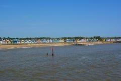 Southwold landskap av strandkojor Fotografering för Bildbyråer