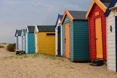 Southwold, Norfolk, UK - Colourful Beach Huts Stock Photo