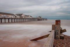 Southwold Pier Calm stock afbeelding