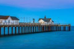 Southwold Pier in Suffolk, UK at Sunset Royalty Free Stock Photography