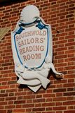 Southwold sailors reading room sign Stock Images